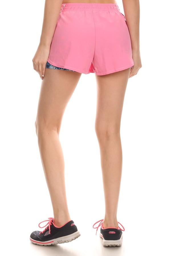 Wholesale Womens Dual Layer Running Shorts - Shorts