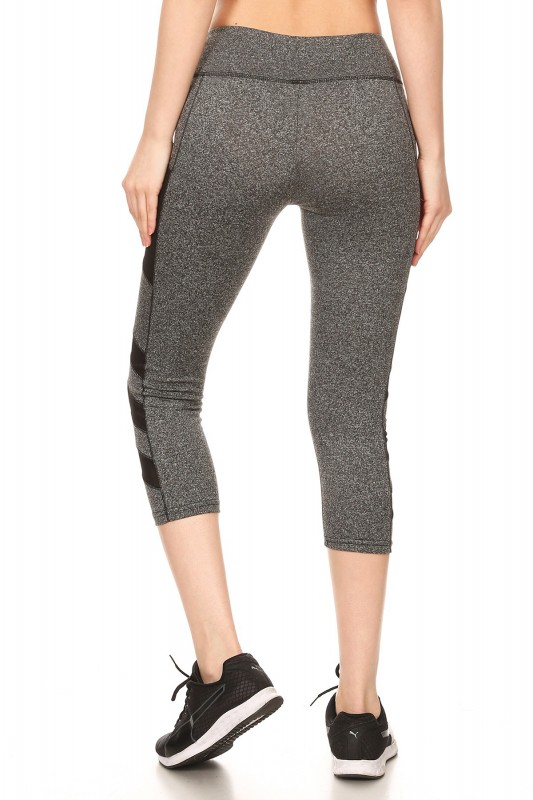 Wholesale Womens Sports Capri Leggings With Side Pockets