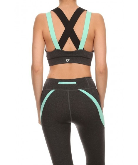 Wholesale Womens Double Wide Straps Activewear Bra