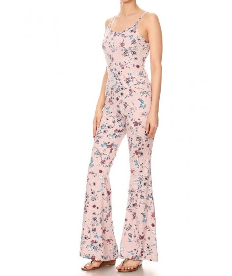Wholesale Womens Flare Jumpsuits With Cami Top