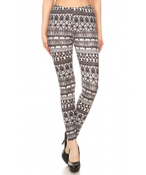 Wholesale Womens Poly Brushed Printed Leggings