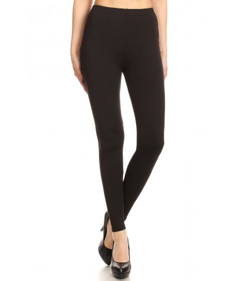Wholesale Womens Solid Poly Brushed Leggings