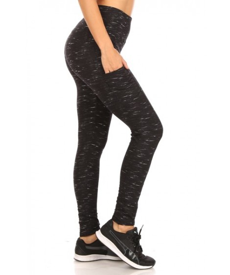 Wholesale Womens Fleece Lined Sports Leggings With Side Pockets
