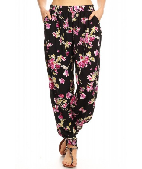 Wholesale Womens Printed Loose Fit Harem Jogger Pants (S-M)