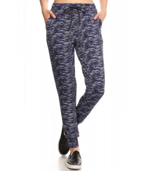 Wholesale Womens Printed Joggers Sweatpants With Shoe Lace Tie