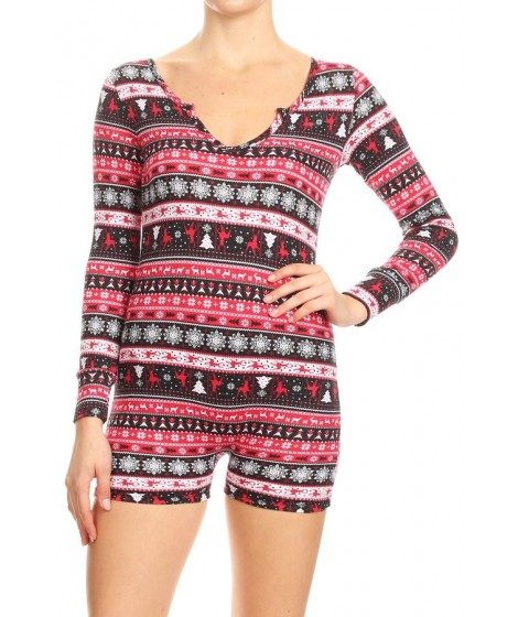 Wholesale Womens Long Sleeve Thermal Rompers
