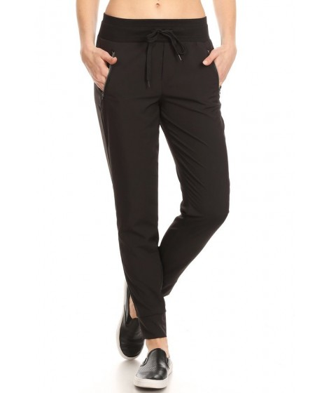 Wholesale Womens Lightweight Joggers Sweatpants With Zipper Pockets