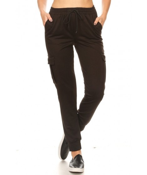 Wholesale Womens Soft French Terry Cargo Joggers Pants