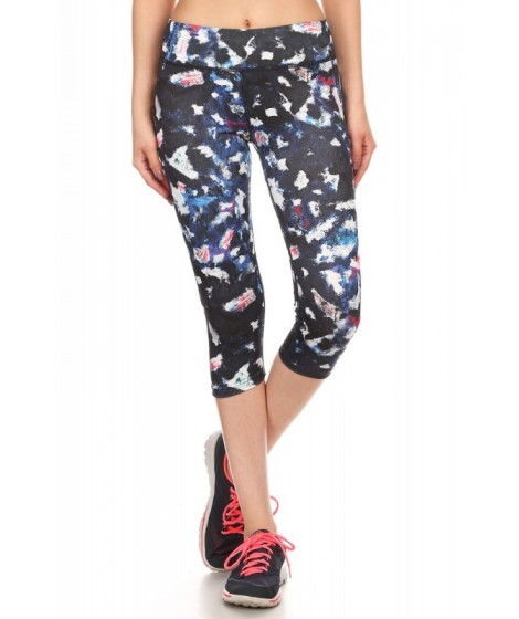 Wholesale Womens Printed Activewear Capris Leggings