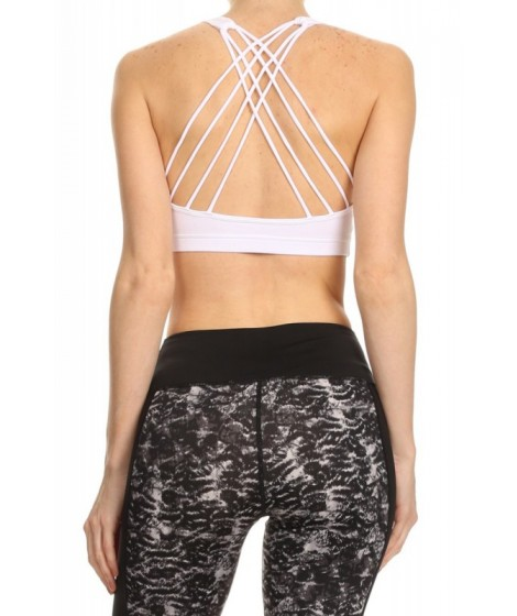 Wholesale Womens Activewear Sports Bras With Multi Criss Cross Back Straps