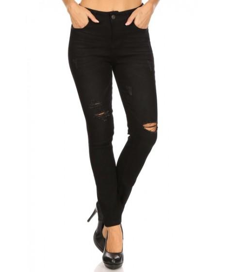 Wholesale Womens Distressed Skinny Denim Jeans