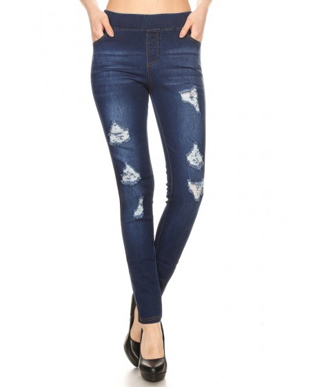 Wholesale Womens Skinny Distressed Denim Jeans Jeggings