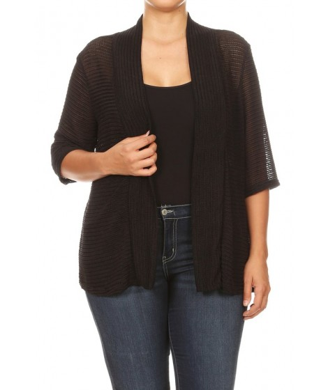 Wholesale Womens Missy Plus Solid Cang Cang Cardigans