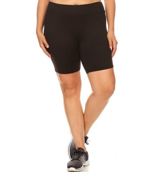 Wholesale Womens Plus Size Soft Brushed Biker Shorts