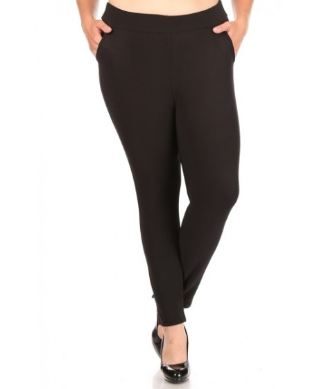 Wholesale Womens Plus Size Tummy Control Butt Sculpting Treggings Skinny Pants