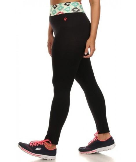 Wholesale Womens Plus Size Active wear Leggings Foldover Waistband