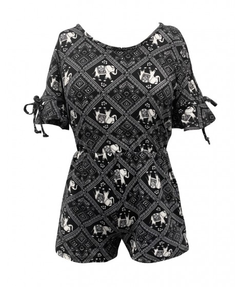 Wholesale Big Kids Soft Brushed Rompers With Cris Cross 3/4 Sleeves