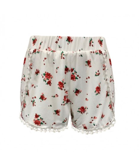 Wholesale Big Kids Soft Brushed Overlap Shorts With Pompom Trim