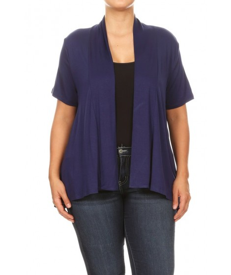 Wholesale Womens Missy Plus Solid Rayon Span Cardigans