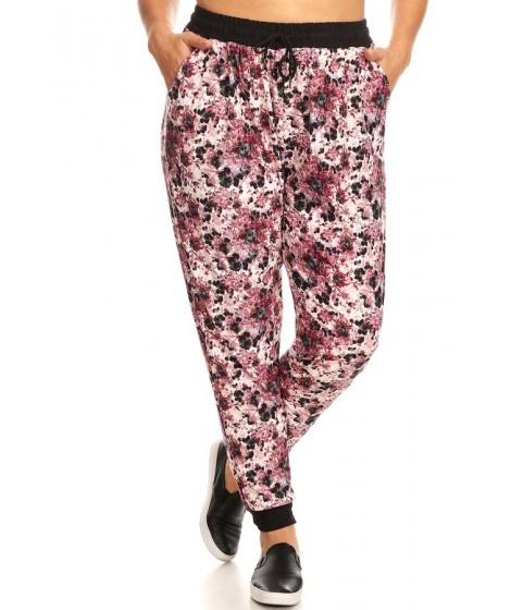 Wholesale Womens Plus Size Soft Brushed Joggers Sweatpants