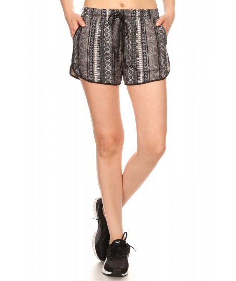 Wholesale Womens Soft Brush Track Shorts With Waist Tie