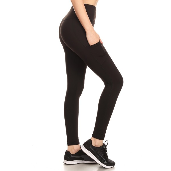 43f5fef0cd32c Wholesale Womens Solid Fleece Lined Sports Leggings With Side Pockets