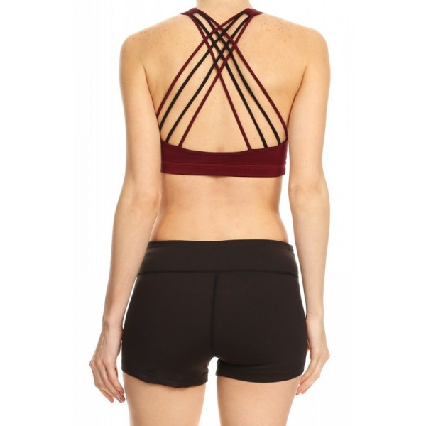 Icyzone Women Activewear Yoga Clothes Strappy Crisscross: Wholesale Womens Activewear Sports Bras With Multi Criss