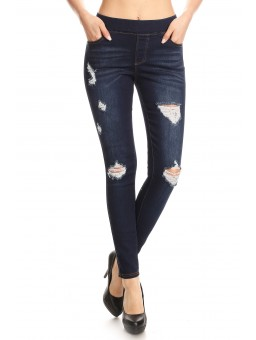 Wholesale Womens Distressed Skinny Denim Pants