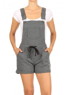 Wholesale Womens French Terry Short Overalls