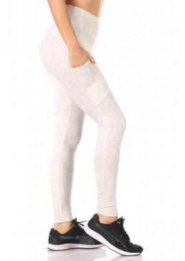 Wholesale Womens High Waist Fleece Lined Leggings With Side Pockets
