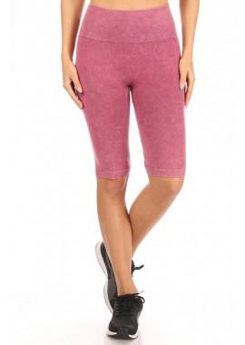 Wholesale Womens Stretch Knit High Waist Biker Shorts