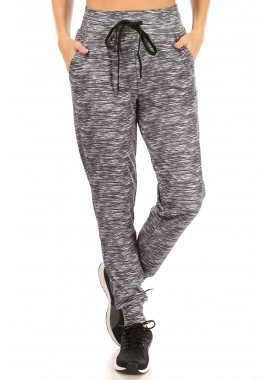 Wholesale Womens Stretch Knit High Waist Joggers Sweatpants