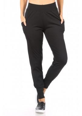 Wholesale Womens Tricot High Waist Slim Fit Joggers Pants