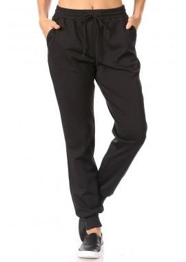 Wholesale Womens High Waist Joggers Sweatpants With Shoe Lace Tie