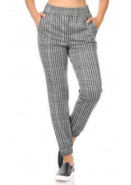 Wholesale Womens Double Knit Cropped Jogger Pants With Side Chain Detail