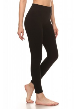 Wholesale Womens Solid Fleece Lined Slimming Leggings