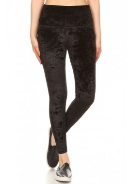 Wholesale Womens Crushed Velvet Leggings