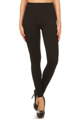 Wholesale Womens High Waist Rib French Terry Seamless Leggings