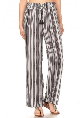 Wholesale Womens Paper Bag Waist Straight Leg Palazzo Pants