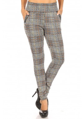 Wholesale Womens Tregging Skinny Pants With Zipper Pockets