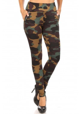 Wholesale Womens Tregging Skinny Pants With Faux Zipper Pockets