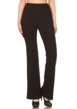 Wholesale Womens Solid High Waisted Flare Pants