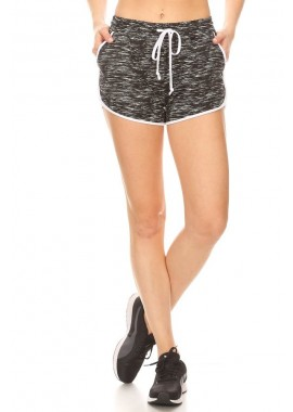 Wholesale Womens Soft Brush Track Shorts With Waist Tie & Pockets