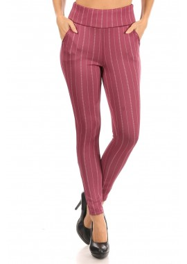 Wholesale Womens High Waist Sculpting Treggings Skinny Pants With Front Pockets