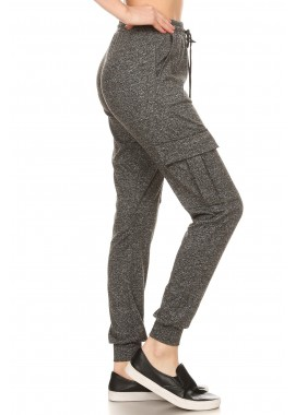 Wholesale Womens Soft Brushed Cargo Joggers Sweatpants