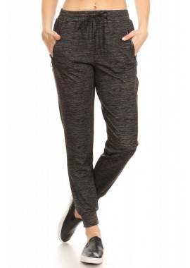 Wholesale Womens Joggers Sweatpants With O-Ring Zipper Pockets