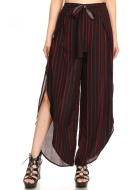 Wholesale Womens Overlap Cropped Wrap Pants