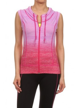 Wholesale Womens Ombre Hoodies Activewear