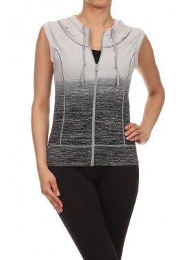 Wholesale Womens Ombre Activewear Hoodies