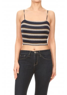 Wholesale Womens Printed Spaghetti Strap Crop Tops